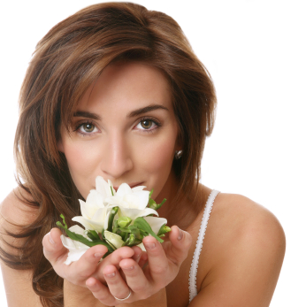woman-with-white-flower