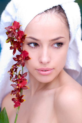 woman-spa-flower-towel