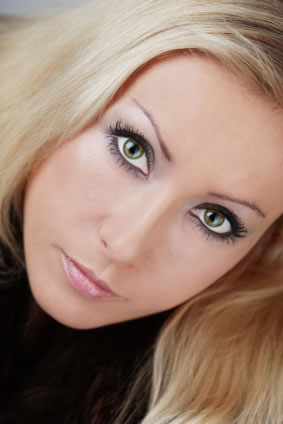 woman with smoky eyes