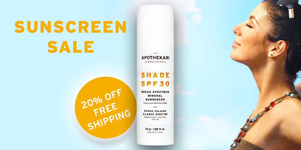 Shade SPF 30 Sunscreen Ad Woman for PhaMix Banner